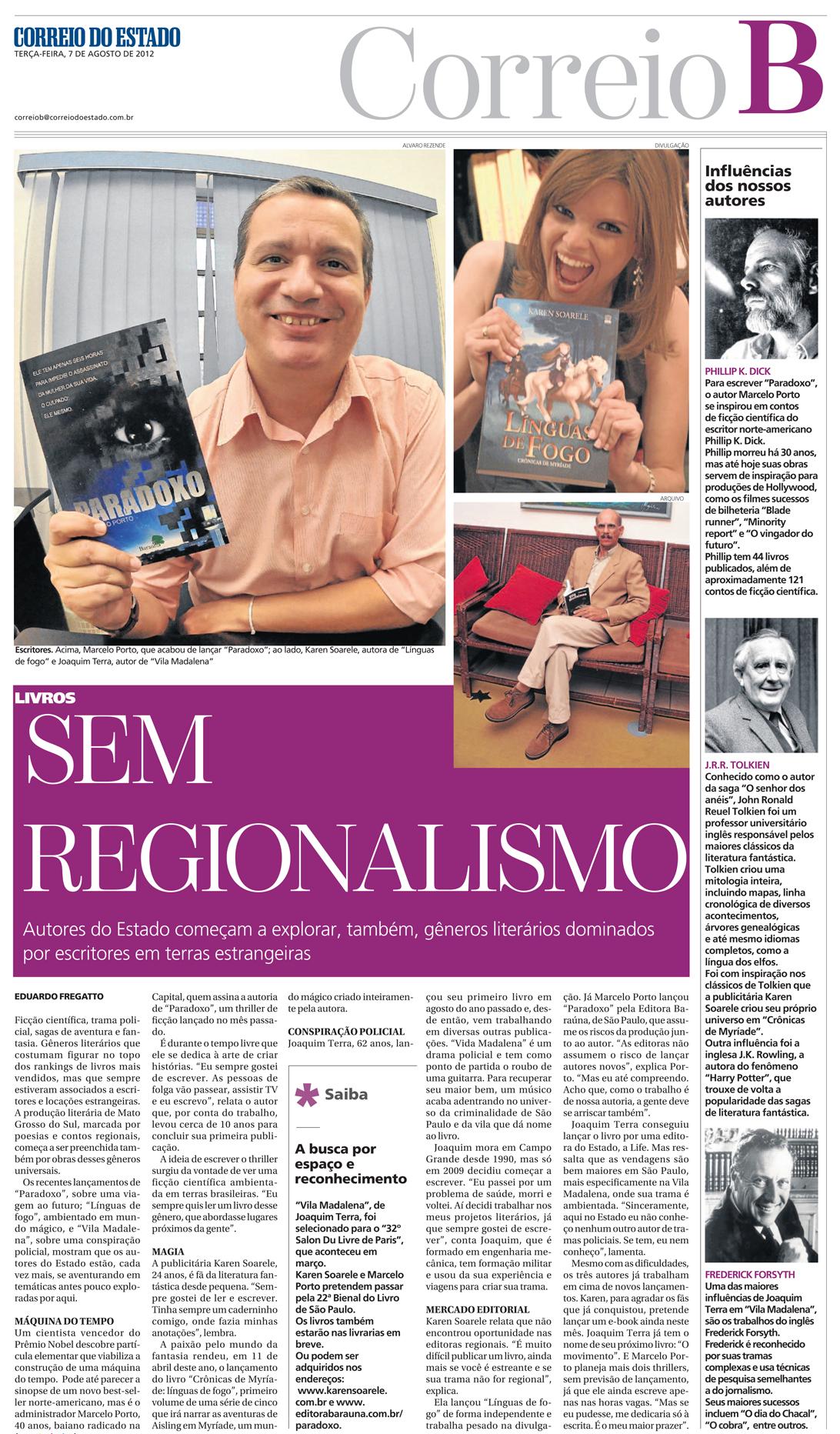 Livros sem regionalismo
