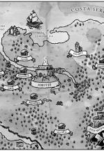 Mapa de Hynneldor, em A Rainha da Primavera